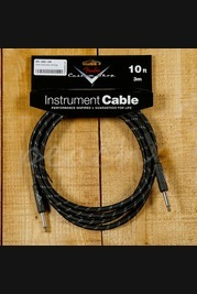 Fender Custom Shop 10ft Straight Instrument Cable Black Tweed