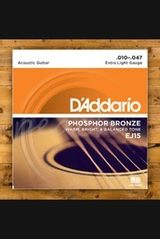D'addario - 10-47 Phosphor Bronze Extra Light 3-pack