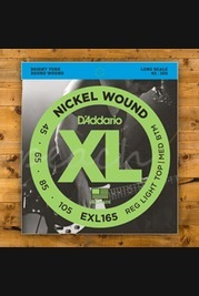 D'addario - 45-105 Regular Light Top/Medium Bottom Long Scale Bass