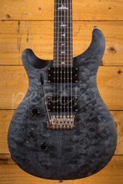 PRS SE Custom 24 Left Handed Quilt Satin Ltd - Grey Black