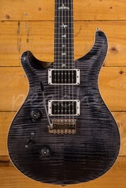 PRS Custom 24 Grey Black 10 Top Stained Flame Maple Neck Left Handed