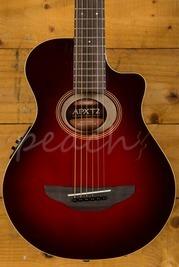 Yamaha APXT2 3/4 Size Electro Travel Guitar Dark Red Burst With Gigbag