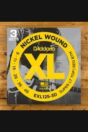 D'addario - 9-46 Super Light Top/Regular Bottom 3-Pack