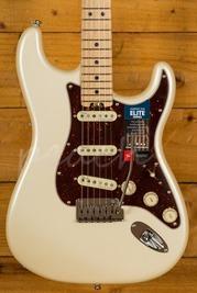 Fender American Elite Stratocaster Maple Neck Olympic Pearl