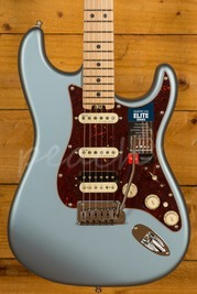 Fender American Elite Strat HSS Maple Satin Ice Blue Metallic