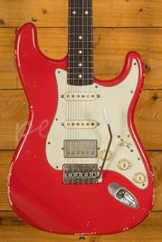Smitty Guitars 60s Classic S Fiesta Red Mastergrade Roasted Flame Maple Neck
