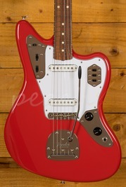 Fender 60s Jaguar Lacquer Fiesta Red Used