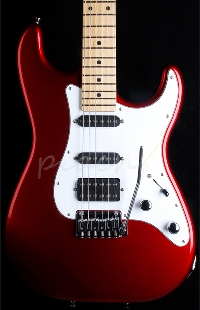 Schecter USA Custom Shop Traditional HSS Candy Apple Red
