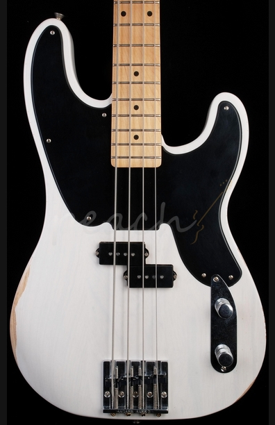Fender Mike Dirnt Roadworn P Bass White Blonde Maple Neck