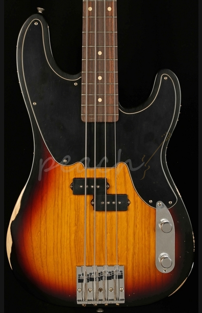Fender Mike Dirnt Roadworn P Bass 3 Tone Sunburst Rosewood