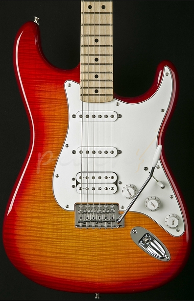 Fender Standard Strat HSS Plus Top Maple Neck Aged Cherry Burst