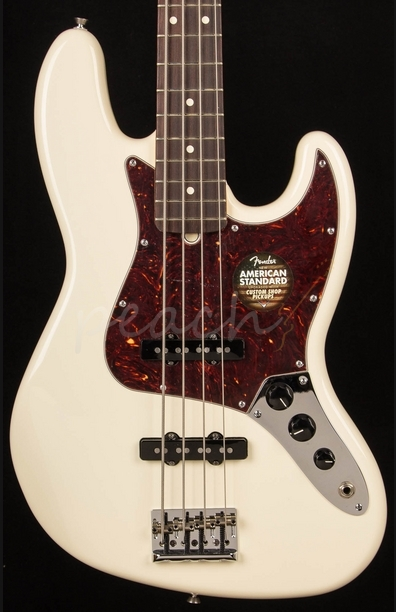 Fender American Standard Jazz Bass Rosewood Olympic White