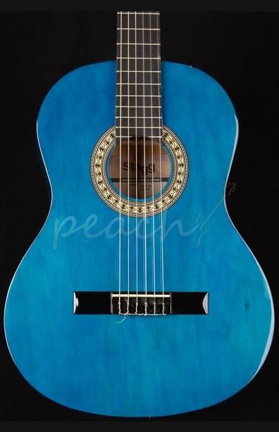 Stagg C542 TB Trans Blue Full Size Nylon String Guitar