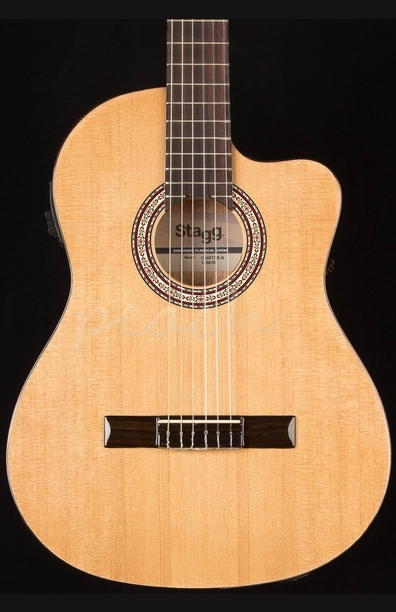 Stagg C546TCE-N Full Size Electro Classic Cutaway