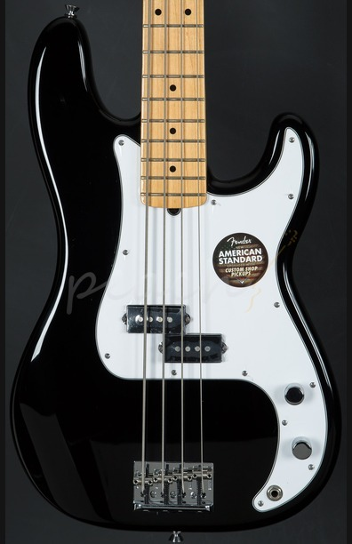 Fender American Standard Precision Bass Maple Neck Black