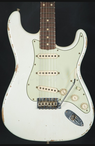 Fender Custom Order Tone Machine Strat Aged Olympic White