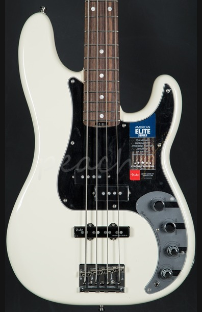 Fender American Elite Precision Bass - Olympic White