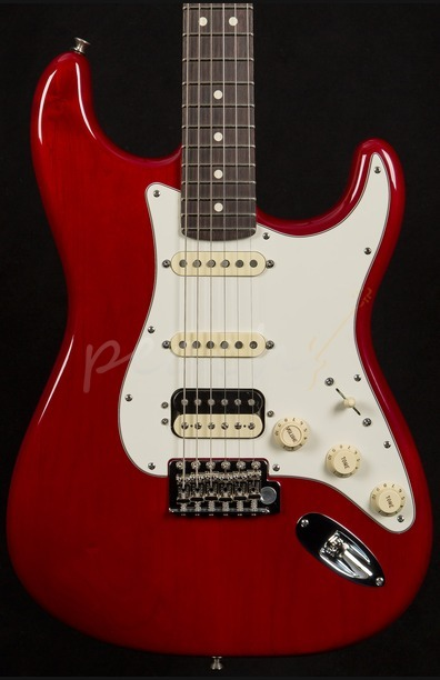 Fender FSR USA Pro Standard Strat HSS Crimson Red Transparent