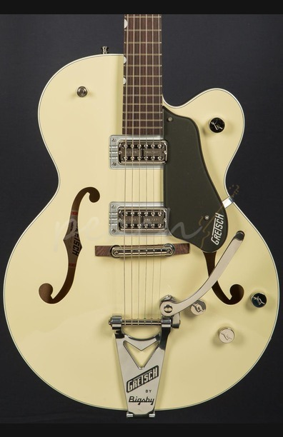 Gretsch G6118T-LIV Players Ed Anniversary Lotus Ivory and Charcoal Metallic