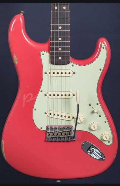 Fender Custom Shop Limited Edition '64 Strat Relic - Faded Fiesta Red