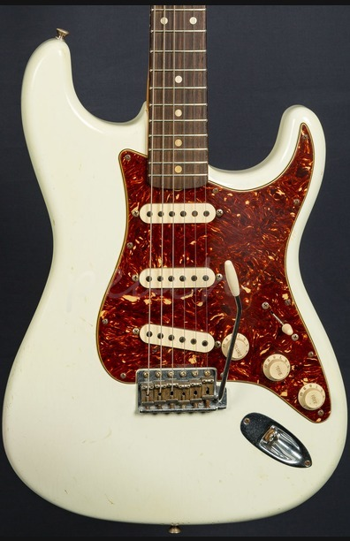 Fender Custom Shop 62 Relic Strat Olympic White with Abby pickups Used