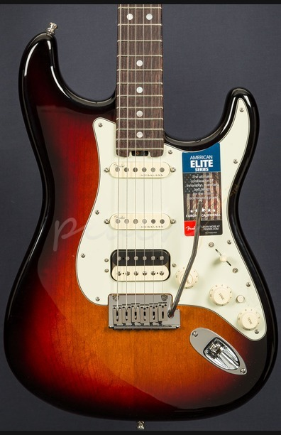 Fender American Elite Strat HSS Shawbucker RW 3 Tone Sunburst
