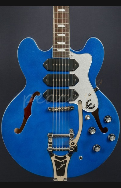 Epiphone Ltd Ed Riviera Custom P93 Blue Royale