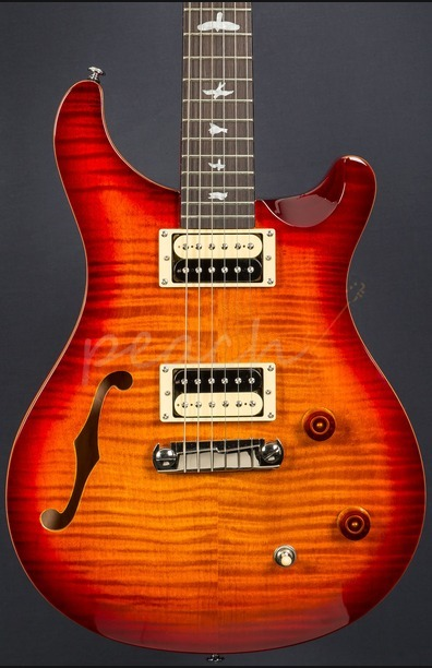 PRS SE Custom 22 Semi Hollow Dark Cherry Sunburst