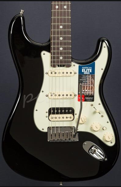 Fender American Elite Strat HSS Shawbucker Mystic Black Rosewood