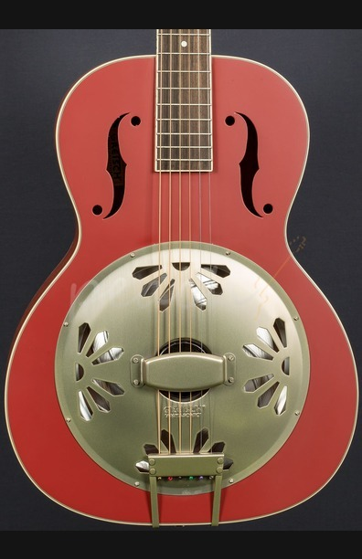 Gretsch G9241 Alligator Biscuit Resonator - Chieftain Red
