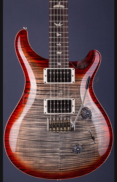 PRS Custom 24 Experience Charcoal Cherry 10 top with Curly Maple Neck
