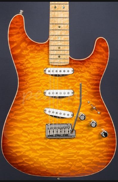 Fender Yuriy Shishkov Masterbuilt Custom Deluxe Strat - Tobacco Sunburst