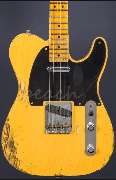 Fender Custom Shop 51 Nocaster Heavy Relic Butterscotch Blonde