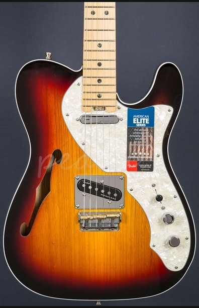 Fender American Elite Tele Thinline Maple Neck 3 Tone Sunburst