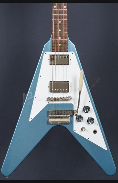 Gibson Custom Flying V 1967 Reissue Pelham Blue with Maestro Used