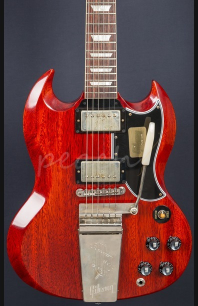 Gibson Custom Standard Historic SG Maestro VOS - Faded Cherry