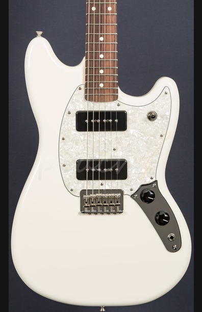 Fender Mustang 90 Rosewood Olympic White