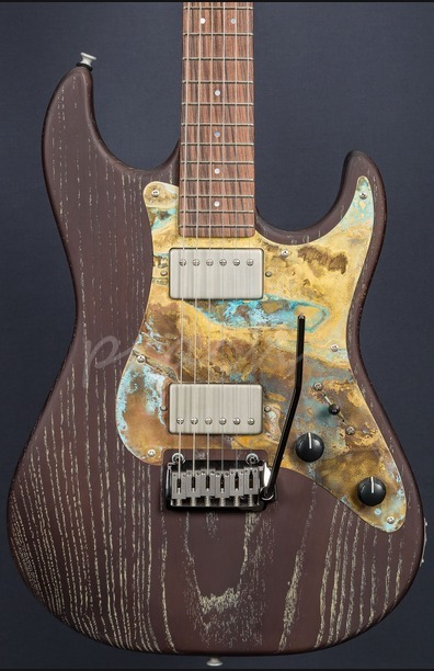 Patrick James Eggle 96 Dark Grained Ash Body with Roasted Maple/PF Neck