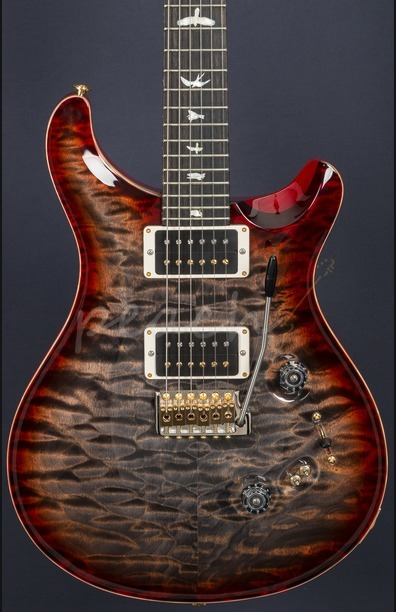 PRS Custom 24/08 Wood Library Quilt Charcoal Cherry Burst