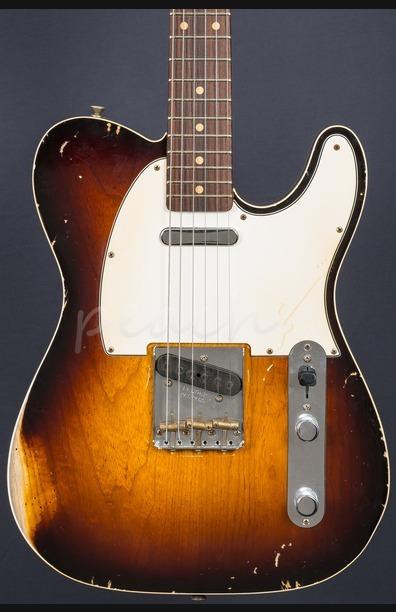 Fender Custom Shop John Cruz Masterbuilt '62 Tele Faded 2 Tone Sunburst