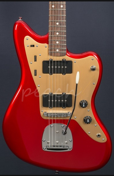 Squier Deluxe Jazzmaster Candy Apple Red Trem