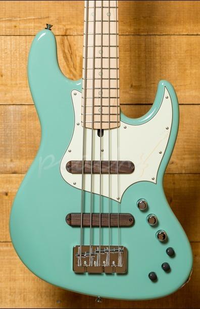 Xotic XJ-1T Lightweight 5-string Bass Surf Green Maple Neck
