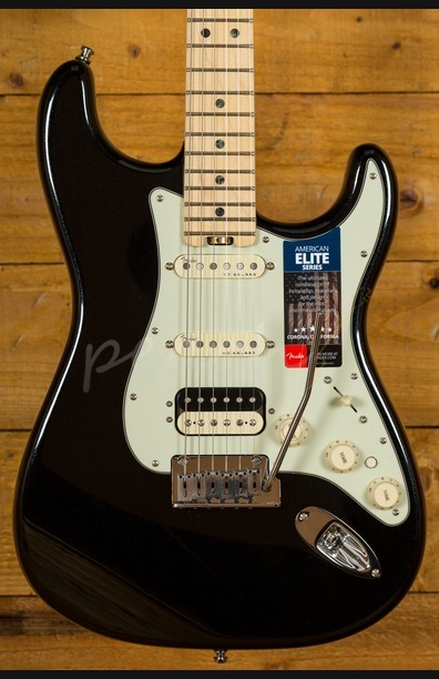 Fender American Elite Strat HSS Shawbucker MN - Mystic Black