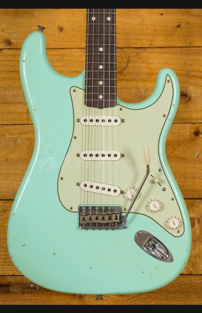 Fender Custom Shop 62 Strat Journeyman Relic Surf Green