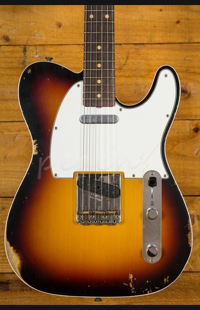 Fender Custom Shop 60 Tele Custom Relic 3 Tone Burst