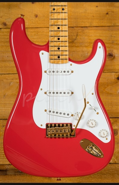 Fender Custom Shop 56 Strat NOS AA Birdseye Maple Fiesta Red