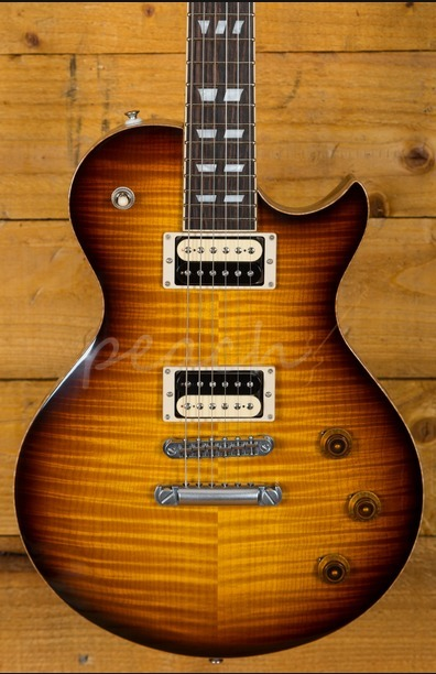 Schecter USA Custom Shop Solo II Custom Carved Top Maple Vintage Burst