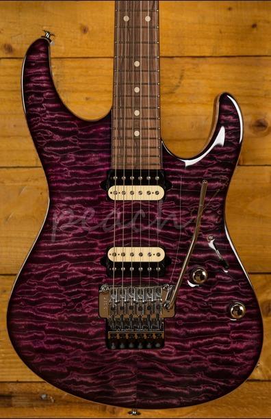 Suhr Modern Carve Top Set Neck Suhr Select Purple Burst
