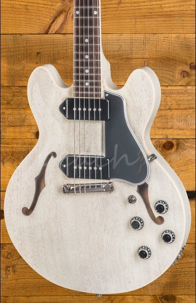 Gibson Custom CS-336 Mahogany TV White Wrap Tail NH