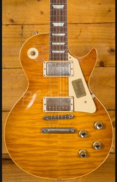 Gibson Custom Les Paul Standard Figured Dirty Lemonburst VOS Slim Neck